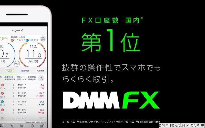 FX口座数国内第一位のDMM.COM証券