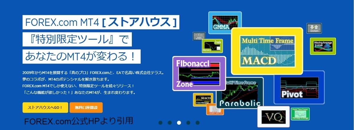 MT4のforex.com