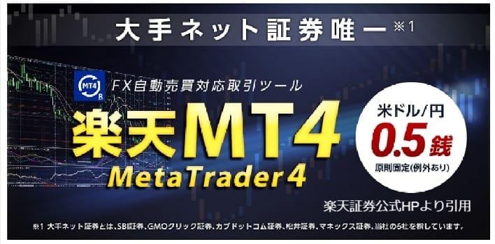 楽天証券のMT4